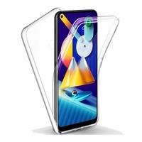 """Samsung Galaxy M11 6.4"""" SM-M115F M115F/DS M115F/DSN [Les Dimensions EXACTES du telephone: 161.4 x 76.3 x 9 mm]: Coque Avant et Arrière Silicone 360° protection intégrale  - TRANSPARENT"""