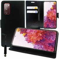 "Samsung Galaxy S20 FE/ S20 FE 4G/ S20 FE 5G/ S20 Fan Edition/ S20 Lite 6.5"" SM-G780F G780F/DSM G781B (non compatible Galaxy S20 6.2""): Etui portefeuille Support Video cuir PU + mini Stylet - NOIR"