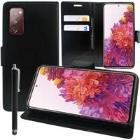 """Samsung Galaxy S20 FE/ S20 FE 4G/ S20 FE 5G/ S20 Fan Edition/ S20 Lite 6.5"""" SM-G780F G780F/DSM G781B (non compatible Galaxy S20 6.2""""): Etui portefeuille Support Video cuir PU + Stylet - NOIR"""
