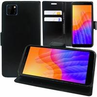 "Huawei Y5p/ Honor 9S 5.45"" DRA-LX9 DUA-LX9 [Les Dimensions EXACTES du telephone: 146.5 x 70.9 x 8.4 mm]: Etui portefeuille Support Video cuir PU - NOIR"