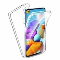 """Samsung Galaxy A21S 6.5"""" SM-A217F A217F/DS A217F/DSN A217M A217N (non compatible Galaxy A21): Coque Avant et Arrière Silicone 360° protection intégrale  - TRANSPARENT"""