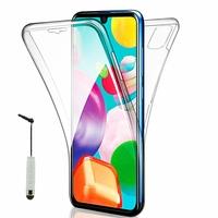 """Samsung Galaxy A41 6.1"""" SM-A415F A415F/DSN A415F/DSM [Les Dimensions EXACTES du telephone: 149.9 x 69.8 x 7.9 mm]: Coque Avant et Arrière Silicone 360° protection intégrale  + mini Stylet - TRANSPARENT"""