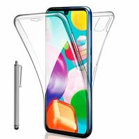 """Samsung Galaxy A41 6.1"""" SM-A415F A415F/DSN A415F/DSM [Les Dimensions EXACTES du telephone: 149.9 x 69.8 x 7.9 mm]: Coque Avant et Arrière Silicone 360° protection intégrale  + Stylet - TRANSPARENT"""