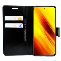 "Xiaomi Poco X3 NFC/ Poco X3 6.67"" M2007J20CG M2007J20CT MZB07Z0IN MZB07Z1IN MZB07Z2IN MZB07Z3IN MZB07Z4IN MZB9965IN M2007J20CI: Etui portefeuille Support Video cuir PU - NOIR"