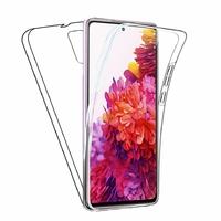 "Samsung Galaxy S20 FE/ S20 FE 4G/ S20 FE 5G/ S20 Fan Edition/ S20 Lite 6.5"" SM-G780F G780F/DSM G781B (non compatible Galaxy S20 6.2""): Coque Avant et Arrière Silicone 360° protection intégrale  - TRANSPARENT"