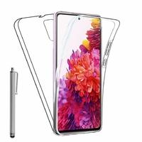 "Samsung Galaxy S20 FE/ S20 FE 4G/ S20 FE 5G/ S20 Fan Edition/ S20 Lite 6.5"" SM-G780F G780F/DSM G781B (non compatible Galaxy S20 6.2""): Coque Avant et Arrière Silicone 360° protection intégrale  + Stylet - TRANSPARENT"