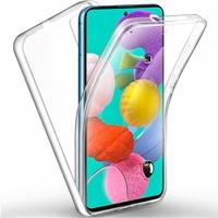 """Samsung Galaxy A51 6.5"""" SM-A515F, A515FN, A515GN, A515FM, A515YN, A515W, A515X, A515F/DSN: Coque Avant et Arrière Silicone 360° protection intégrale  - TRANSPARENT"""