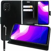 """Xiaomi Mi 10 Lite 5G/ Mi 10 Youth 5G 6.57"""" M2002J9G M2002J9E (non compatible Xiaomi Mi Note 10 Lite 6.47""""/ Mi 10T Lite 5G 6.67""""): Etui portefeuille Support Video cuir PU + Stylet - NOIR"""