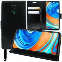 """Xiaomi Poco M2 Pro 6.67"""" M2003J6CI [Les Dimensions EXACTES du telephone: 165.8 x 76.7 x 8.8 mm]: Etui portefeuille Support Video cuir PU + mini Stylet - NOIR"""