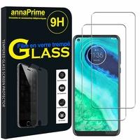 """Motorola Moto G8 6.4"""" XT2045-1 XT2045-2 XT2045-5 (non compatible Moto G8 Plus/ Play/ Power/ Power Lite): Lot / Pack de 2 Films de protection d'écran Verre Trempé"""
