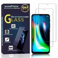 """Motorola Moto G9 Play 6.5""""/ Moto G9 (India) [Les Dimensions EXACTES du telephone: 165.2 x 75.7 x 9.2 mm]: Lot / Pack de 2 Films de protection d'écran Verre Trempé"""