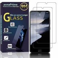 """Nokia 2.4 6.5"""" [Les Dimensions EXACTES du telephone: 165.9 x 76.3 x 8.7 mm]: Lot / Pack de 2 Films de protection d'écran Verre Trempé"""