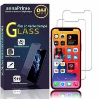 """Apple iPhone 12 mini 5.4"""" A2399 A2176 A2398 A2400 (non compatible iPhone 12 6.1""""): Lot / Pack de 2 Films de protection d'écran Verre Trempé"""