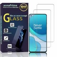"""OnePlus 8T/ 8T+ 5G 6.55"""" KB2001 KB2000 KB2003 (non compatible OnePlus 8): Lot / Pack de 2 Films de protection d'écran Verre Trempé"""