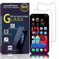 """Apple iPhone 12 Pro 6.1"""" A2407 A2341 A2406 A2408 (non compatible iPhone 12 Pro Max 6.7""""): Lot / Pack de 2 Films de protection d'écran Verre Trempé"""