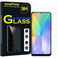 """Huawei Y6p 6.3"""" MED-LX9 MED-LX9N ART-L29 [Les Dimensions EXACTES du telephone: 159.1 x 74.1 x 9 mm]: Lot / Pack de 3 Films de protection d'écran Verre Trempé"""