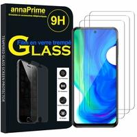 "Xiaomi Poco M2 Pro 6.67"" M2003J6CI [Les Dimensions EXACTES du telephone: 165.8 x 76.7 x 8.8 mm]: Lot / Pack de 3 Films de protection d'écran Verre Trempé"