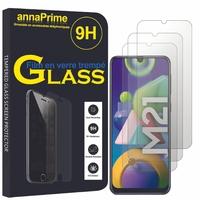 """Samsung Galaxy M21 6.4"""" SM-M215F/DS M215F/DSN [Les Dimensions EXACTES du telephone: 159 x 75.1 x 8.9 mm]: Lot / Pack de 3 Films de protection d'écran Verre Trempé"""