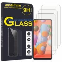 """Samsung Galaxy A11 6.4"""" SM-A115F A115M A115F/DS A115F/DSN A115M/DS [Les Dimensions EXACTES du telephone: 161.4 x 76.3 x 8 mm]: Lot / Pack de 3 Films de protection d'écran Verre Trempé"""