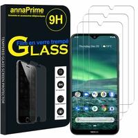"""Nokia 2.3 6.2"""" TA-1211 TA-1214 TA-1206 TA-1209 [Les Dimensions EXACTES du telephone: 157.7 x 75.4 x 8.7 mm]: Lot / Pack de 3 Films de protection d'écran Verre Trempé"""