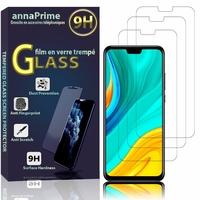 """Huawei Y8s 6.5"""" JKM-LX1 JKM-LX2 JKM-LX3 [Les Dimensions EXACTES du telephone: 162.4 x 77.1 x 8.1 mm]: Lot / Pack de 3 Films de protection d'écran Verre Trempé"""