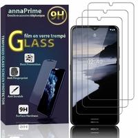 """Nokia 2.4 6.5"""" [Les Dimensions EXACTES du telephone: 165.9 x 76.3 x 8.7 mm]: Lot / Pack de 3 Films de protection d'écran Verre Trempé"""