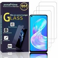 Oppo A72 5G/ A72N 5G (non compatible Oppo A72 4G) [Les Dimensions EXACTES du telephone: 162.2 x 75 x 7.9 mm]: Lot / Pack de 3 Films de protection d'écran Verre Trempé