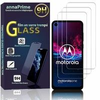 """Motorola One Action 6.3"""" XT2013-1 XT2013-2 [Les Dimensions EXACTES du telephone: 160.1 x 71.2 x 9.2 mm]: Lot / Pack de 3 Films de protection d'écran Verre Trempé"""