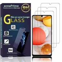 "Samsung Galaxy A42 5G 6.6"" SM-A426B SM-A426B/DS [Les Dimensions EXACTES du telephone: 164.4 x 75.9 x 8.6 mm]: Lot / Pack de 3 Films de protection d'écran Verre Trempé"