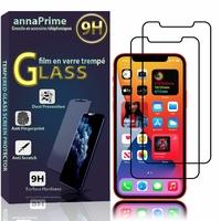 """Apple iPhone 12 6.1"""" A2403 A2172 A2402 A2404 (non compatible iPhone 12 mini 5.4""""): Lot / Pack de 2 Films de protection d'écran Verre Trempé"""