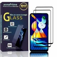 """Samsung Galaxy M11 6.4"""" SM-M115F M115F/DS M115F/DSN [Les Dimensions EXACTES du telephone: 161.4 x 76.3 x 9 mm]: Lot / Pack de 2 Films de protection d'écran Verre Trempé"""