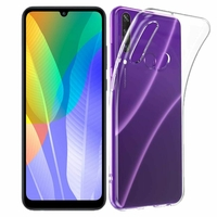 """Huawei Y6p 6.3"""" MED-LX9 MED-LX9N ART-L29 [Les Dimensions EXACTES du telephone: 159.1 x 74.1 x 9 mm]: Coque Silicone gel UltraSlim et Ajustement parfait - TRANSPARENT"""