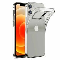 """Apple iPhone 12 6.1"""" A2403 A2172 A2402 A2404 (non compatible iPhone 12 mini 5.4""""): Coque Silicone gel UltraSlim et Ajustement parfait - TRANSPARENT"""