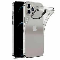 """Apple iPhone 12 Pro Max 6.7"""" A2411 A2342 A2410 A2412 (non compatible iPhone 12 Pro 6.1""""): Coque Silicone gel UltraSlim et Ajustement parfait - TRANSPARENT"""