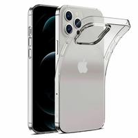 """Apple iPhone 12 Pro 6.1"""" A2407 A2341 A2406 A2408 (non compatible iPhone 12 Pro Max 6.7""""): Coque Silicone gel UltraSlim et Ajustement parfait - TRANSPARENT"""