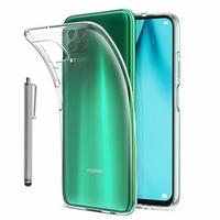 """Huawei P40 Lite/ Nova 6 SE 6.4"""" JNY-L21A L01A L21B L22A L02A L22B LX1 AL10 TL10 (non compatible Huawei P40 lite E 6.39""""): Coque Silicone gel UltraSlim et Ajustement parfait + Stylet - TRANSPARENT"""