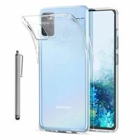 "Samsung Galaxy S20/ S20 5G 6.2"" SM-G980 G980F (non compatible Galaxy S20+ Plus 6.7""/ S20 Ultra 6.9""): Coque Silicone gel UltraSlim et Ajustement parfait + Stylet - TRANSPARENT"