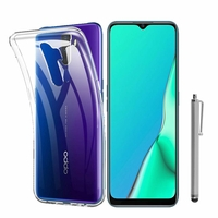 """Oppo A9 (2020)/ Oppo A11X 6.5"""" CPH1937 CPH1939 CPH1941 PCHM30 PCHT30 (non compatible Oppo A9 2019 6.53""""): Coque Silicone gel UltraSlim et Ajustement parfait + Stylet - TRANSPARENT"""