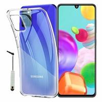 "Samsung Galaxy A41 6.1"" SM-A415F A415F/DSN A415F/DSM [Les Dimensions EXACTES du telephone: 149.9 x 69.8 x 7.9 mm]: Coque Silicone gel UltraSlim et Ajustement parfait + mini Stylet - TRANSPARENT"