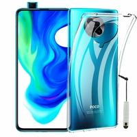 "Xiaomi Poco F2 Pro 5G 6.67""/ Redmi K30 Pro/ K30 Pro Zoom M2004J11G [Les Dimensions EXACTES du telephone: 163.3 x 75.4 x 8.9 mm]: Coque Silicone gel UltraSlim et Ajustement parfait + mini Stylet - TRANSPARENT"