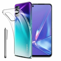 """Oppo A72 4G/ A52/ A92 6.5"""" CPH2067 CPH2061 CPH2069 PADM00 PDAM10 CPH2059 (non compatible Oppo A72 5G): Coque Silicone gel UltraSlim et Ajustement parfait + Stylet - TRANSPARENT"""