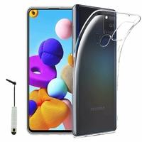"""Samsung Galaxy A21S 6.5"""" SM-A217F A217F/DS A217F/DSN A217M A217N (non compatible Galaxy A21): Coque Silicone gel UltraSlim et Ajustement parfait + mini Stylet - TRANSPARENT"""