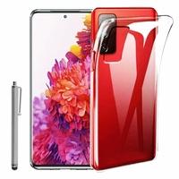 "Samsung Galaxy S20 FE/ S20 FE 4G/ S20 FE 5G/ S20 Fan Edition/ S20 Lite 6.5"" SM-G780F G780F/DSM G781B (non compatible Galaxy S20 6.2""): Coque Silicone gel UltraSlim et Ajustement parfait + Stylet - TRANSPARENT"