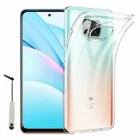 "Xiaomi Mi 10T Lite 5G/ 10T Lite 6.67"" M2007J17G (non compatible Xiaomi Mi 10 Lite 5G 6.57""): Coque Silicone gel UltraSlim et Ajustement parfait + mini Stylet - TRANSPARENT"