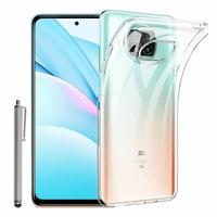 "Xiaomi Mi 10T Lite 5G/ 10T Lite 6.67"" M2007J17G (non compatible Xiaomi Mi 10 Lite 5G 6.57""): Coque Silicone gel UltraSlim et Ajustement parfait + Stylet - TRANSPARENT"