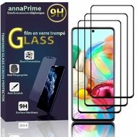 """Samsung Galaxy A71 6.7"""" SM-A715F A715F/DS A715F/DSN A715F/DSM [Les Dimensions EXACTES du telephone: 163.6 x 76 x 7.7 mm]: Lot / Pack de 3 Films de protection d'écran Verre Trempé"""