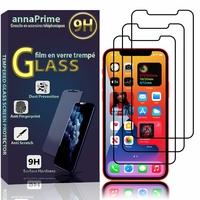 """Apple iPhone 12 6.1"""" A2403 A2172 A2402 A2404 (non compatible iPhone 12 mini 5.4""""): Lot / Pack de 3 Films de protection d'écran Verre Trempé"""