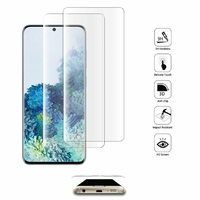 """Samsung Galaxy S20+ Plus/ S20+ 5G 6.7"""" SM-G985 G985F SM-G986 (non compatible Galaxy S20 6.2""""/ S20 Ultra 6.9""""): Lot/ Pack de 2 Films en Verre Trempé Bord Incurvé Resistant"""