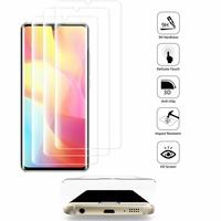"""Xiaomi Mi Note 10 Lite 6.47"""" M2002F4LG M1910F4G (non compatible Xiaomi Mi 10 Lite 5G 6.57"""") [Les Dimensions EXACTES du telephone: 157.8 x 74.2 x 9.7 mm]: Lot/ Pack de 3 Films en Verre Trempé Bord Incurvé Resistant"""