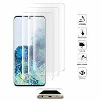 """Samsung Galaxy S20/ S20 5G 6.2"""" SM-G980 G980F (non compatible Galaxy S20+ Plus 6.7""""/ S20 Ultra 6.9""""): Lot/ Pack de 3 Films en Verre Trempé Bord Incurvé Resistant"""